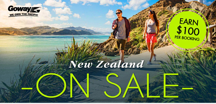 New Zealand on Sale - Earn $100 per booking